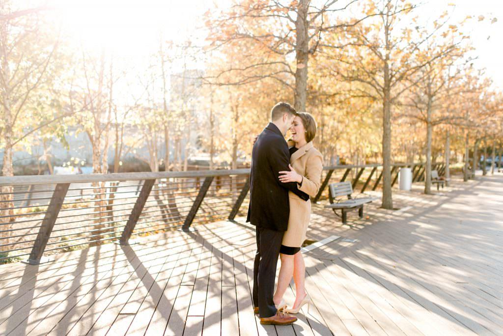 Couple at Race St. Pier in Philadelphia taken by Philadelphia Wedding Photographer Matt Genders Photography