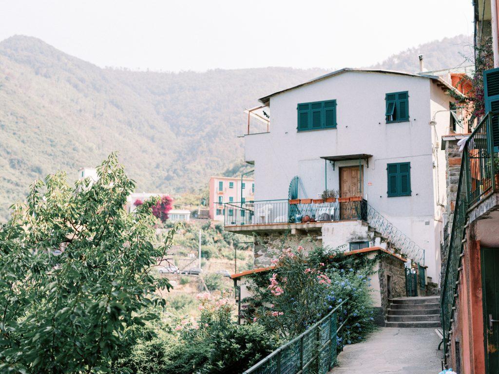 A white house on the hill in Corniglia Cinque Terre taken by landscape photographer Matt Genders