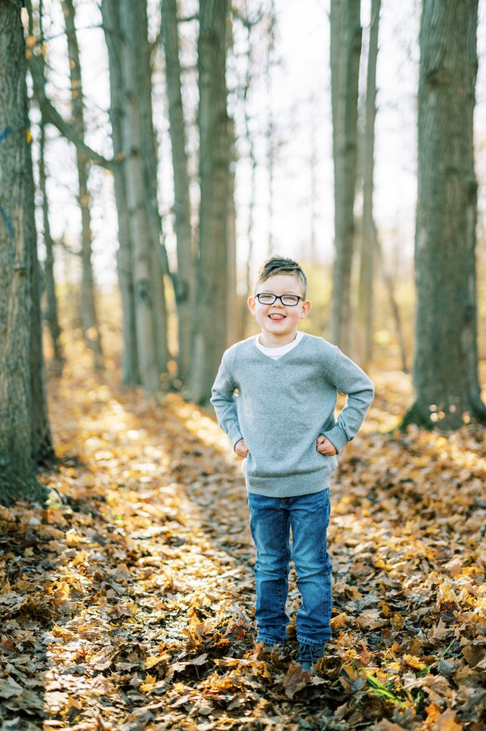 Boy in jeans and grey sweater during family session taken by Philadelphia Wedding Photographer Matt Genders