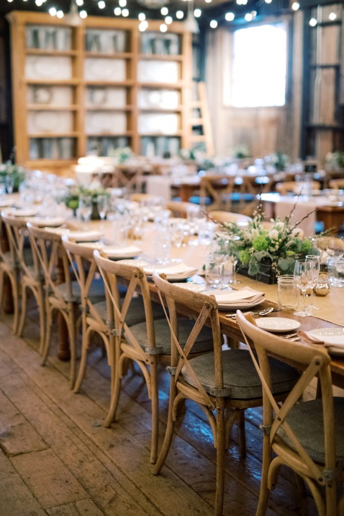 The reception space at Terrain at Styers during a wedding taken by Philadelphia Wedding Photographer Matt Genders Photography